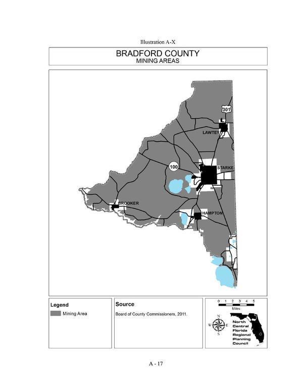 Illustration A-X Bradford County MINING AREAS