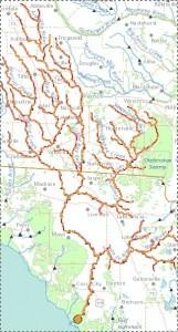 325x602 Suwannee Streamer, in Suwannee River Basin, by John S. Quarterman, for WWALS.net, 25 June 2014