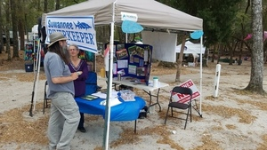 Questions and Suwannee Riverkeeper banner, Thursday