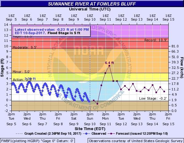 Suwannee River at Fowlers Bluff