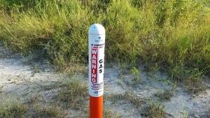 Sabal Trail Marker, Coffee Road, near Okapilco Creek 30.9185340, -83.5903270