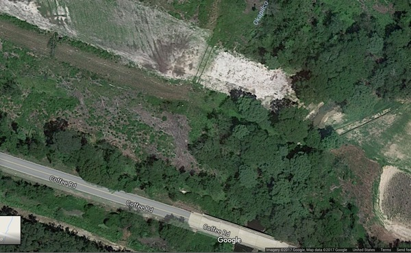 Sinkholes at Okapilco Creek?, Google maps