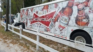 Gretchen and the Budweiser truck, Thursday