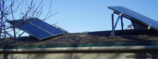 Old-style solar mounts, 2006, Solar on roof