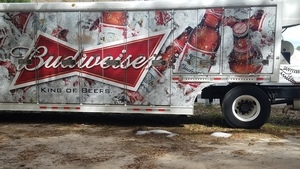 Ice below Budweiser truck, Stages
