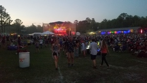Main stage at dusk,