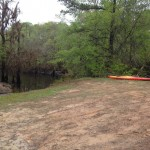 960x720 First canoe waiting, in Before, by Gretchen Quarterman, for WWALS Watershed Coalition, Inc., 29 March 2014