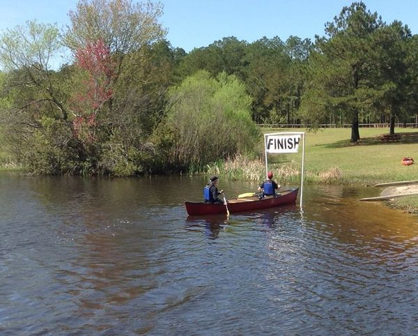 600x482 Top finishers in the two person canoe, mixed category., in Finish, by Bret Wagenhorst, for WWALS Watershed Coalition, Inc., 29 March 2014