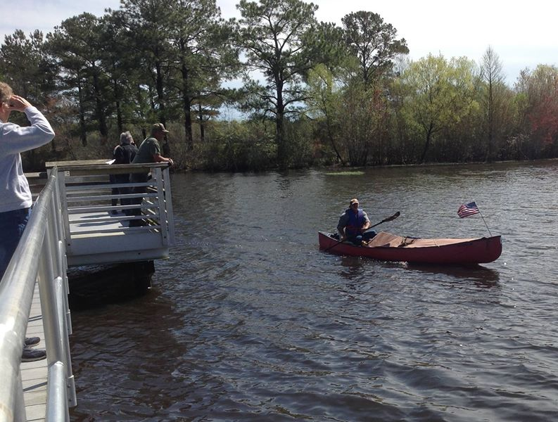 793x600 This gentleman came in first in the solo canoe, male category and was right behind the top kayak finishers., in Finish, by Bret Wagenhorst, for WWALS Watershed Coalition, Inc., 29 March 2014