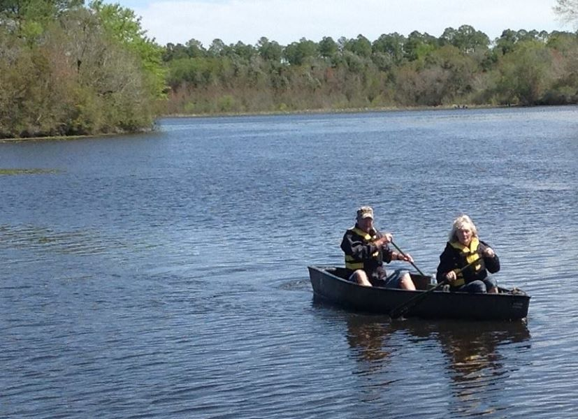 827x600 This couple came all the way from Germany and won in the category of entrants coming the furthest to participate in the BIG Little River Paddle Event., in Finish, by Bret Wagenhorst, for WWALS Watershed Coalition, Inc., 29 March 2014