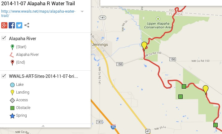 717x434 ARWT Jennings Legend, in Alapaha River Water Trail draft map, by John S. Quarterman, for WWALS.net, 7 November 2014