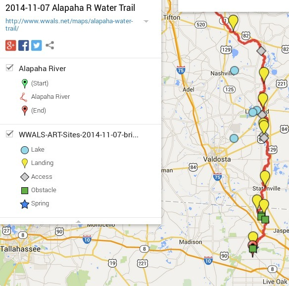 584x579 ARWT Legend, in Alapaha River Water Trail draft map, by John S. Quarterman, for WWALS.net, 7 November 2014
