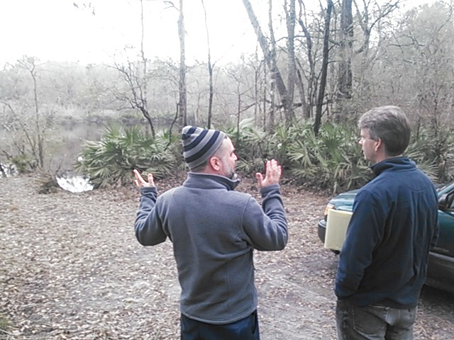 640x480 Don Thieme and Dan Chapman at Shadrick Sinkhole, in Sinkholes near the Withlacoochee River, by John S. Quarterman, for WWALS.net, 18 February 2015