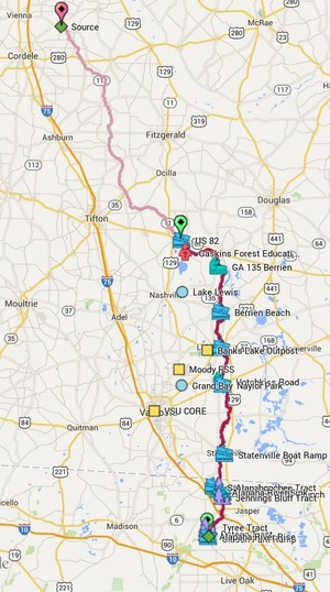 300x538 Alapaha River, in Alapaha River Water Trail, by John S. Quarterman, for WWALS.net, 1 March 2015