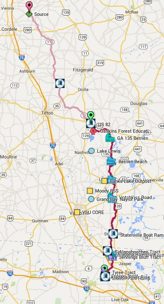 526x976 Alapaha River Gauges, in Alapaha River Water Trail, by John S. Quarterman, for WWALS.net, 1 March 2015
