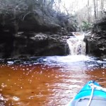 640x480 Movie: Waterfall (5.8M), in Statenville to Sasser Landing on the Alapaha River, by John S. Quarterman, for WWALS.net, 15 February 2015