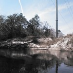 640x480 Power line, in Statenville to Sasser Landing on the Alapaha River, by John S. Quarterman, for WWALS.net, 15 February 2015