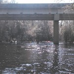 640x480 US 84 bridge, in Statenville to Sasser Landing on the Alapaha River, by John S. Quarterman, for WWALS.net, 15 February 2015