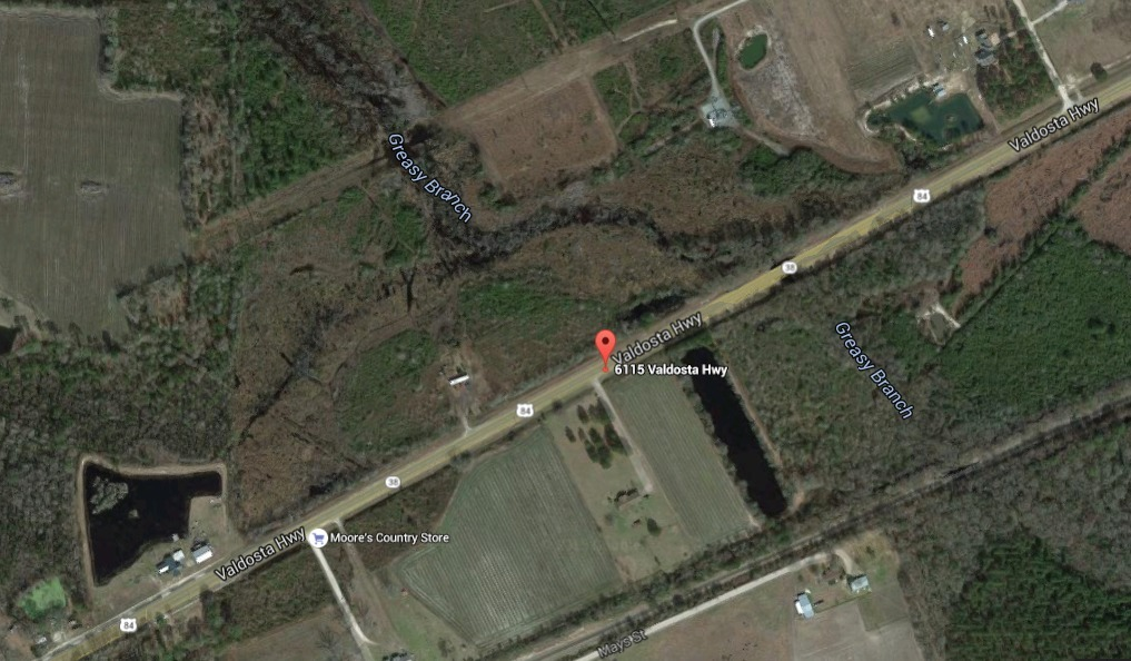 1017x594 Greasy Branch, CSX Railroad, Upper Suwannee River Watershed, in Two GA-EPD water advisories about US 84 widening project, by John S. Quarterman, for WWALS.net, 13 July 2015