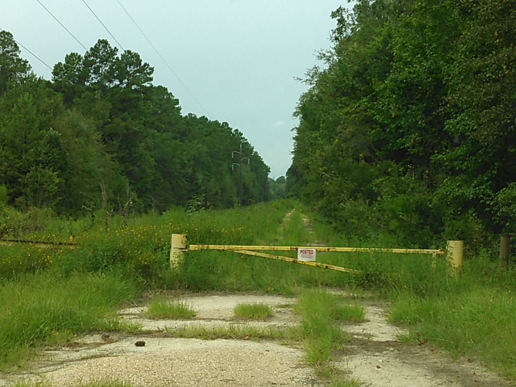 1024x768 Blue Springs Road closed to Spook Bridge 30.7908344, -83.4440613, in Sabal Trail @ Withlacoochee @ US 84, by John S. Quarterman, for WWALS.net, 28 August 2015