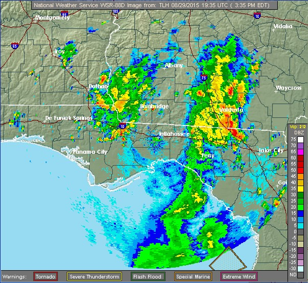 601x552 NWS Tallahassee composite, in Rained out: Banks Lake Outing cancelled, by John S. Quarterman, for WWALS.net, 29 August 2015