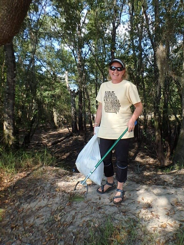 720x960 And shes all smiles â?? with Deanna Mericle., in WWALS Adopt-A-Stream Cleanup at Berrien Beach Landing (GA 168) --Gretchen Quarterman 2016-09-10, by Gretchen Quarterman, 10 September 2016