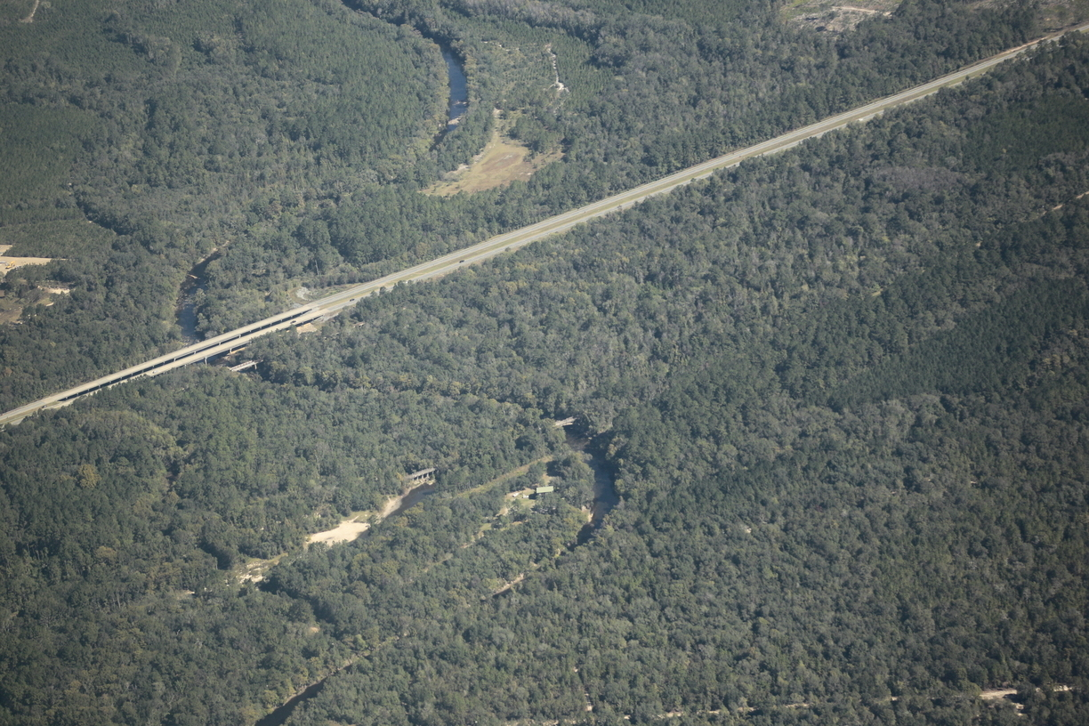 1224x816 Spook Bridge, Brooks County HDD 30.789835, -83.451664, in US 84 HDD, Withlacoochee River, by Dominick Gheesling, for WWALS.net, 22 October 2016