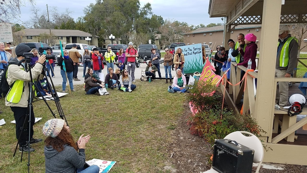 1280x720 Megan asked to speak to her school board and they refused, in Walk for Water and Speak for Springs, by John S. Quarterman, for WWALS.net, 28 January 2017