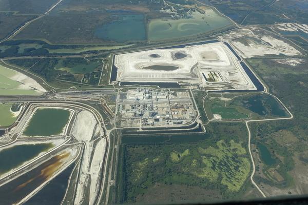 W across PCS Phosphate Plant,
