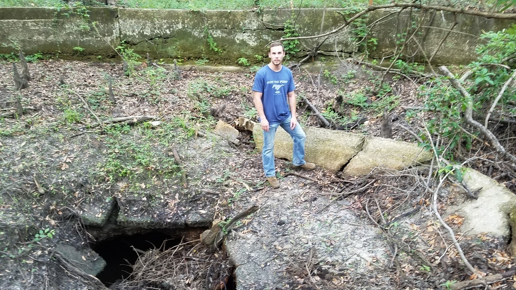 1008x567 Wade Spring with Aaron Sirmans as reference human, in Wade Springs, by John S. Quarterman, for WWALS.net, 21 May 2017