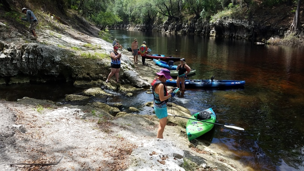 1008x567 Upriver across the spring, 30.36951, -82.88871, in Pictures: Woods Ferry Tract to Suwannee Springs, by John S. Quarterman, for WWALS.net, 20 May 2017