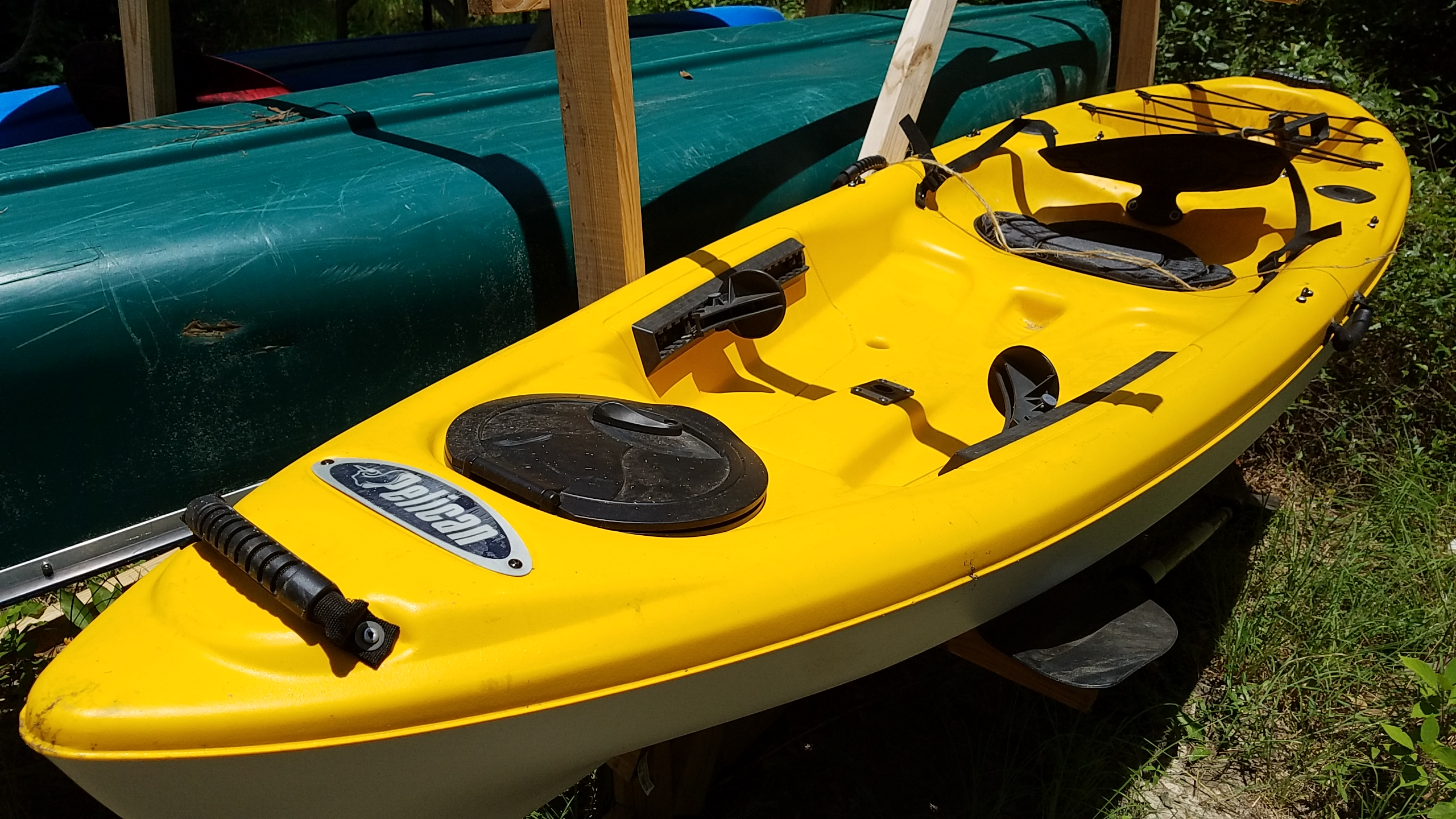 2560x1440 Pelican Icon 100X Angler 10-foot sit-on-top fishing kayak, with paddle, in Raffle Kayak, by John S. Quarterman, for WWALS.net, 8 July 2017
