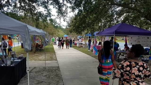 640x360 Entrance, 13:43:40, 30.828602, -83.300797, Saunders Park, in Pictures: WWALS @ South Georgia Pride, by John S. Quarterman, for WWALS.net, 16 September 2017