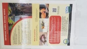 Important Animal Disease Notice, Notices