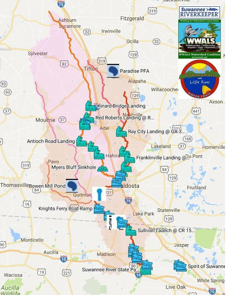 795x1036 Rivers, WLRWT, in Withlacoochee and Little River Water Trail, by John S. Quarterman, for WWALS.net, 4 November 2017