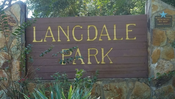 600x338 Sign closeup, 11:20:03, 30.8855482, -83.3143005, Entrance, in Langdale Park open, by John S. Quarterman, for WWALS.net, 1 November 2017