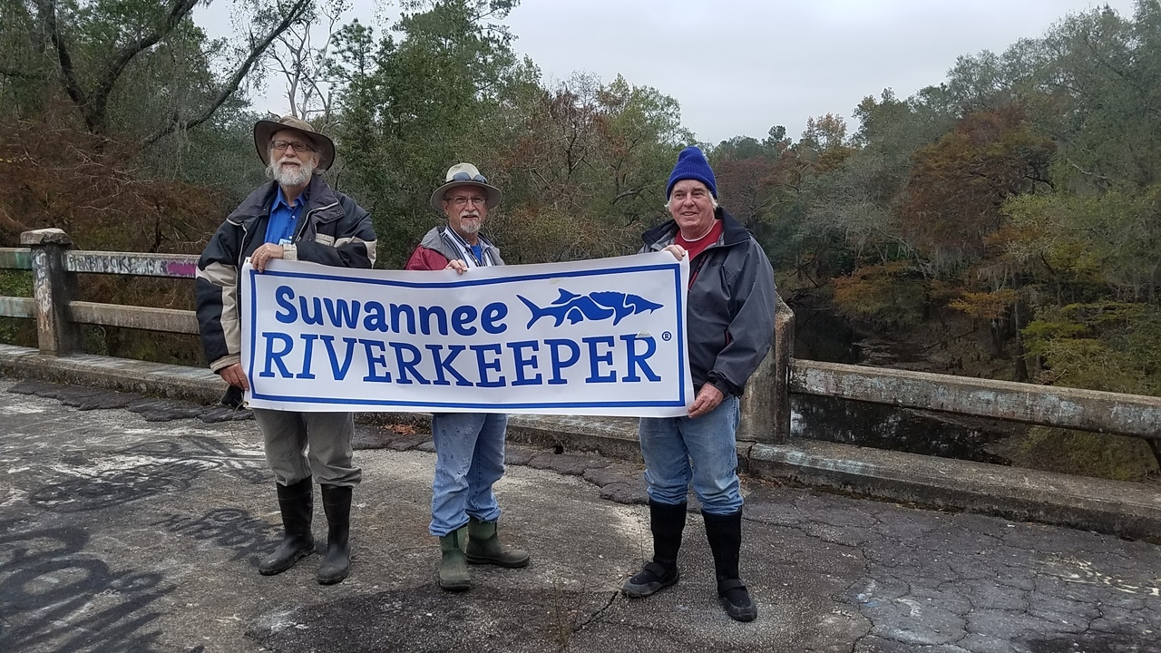 1280x720 Banner, 13:36:38, 30.7900038, -83.4585197, On top, in Hike to Spook Bridge, by John S. Quarterman, for WWALS.net, 11 November 2017