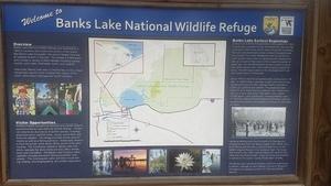 Welcome to Banks Lake National Wildlife Refuge, Kiosk