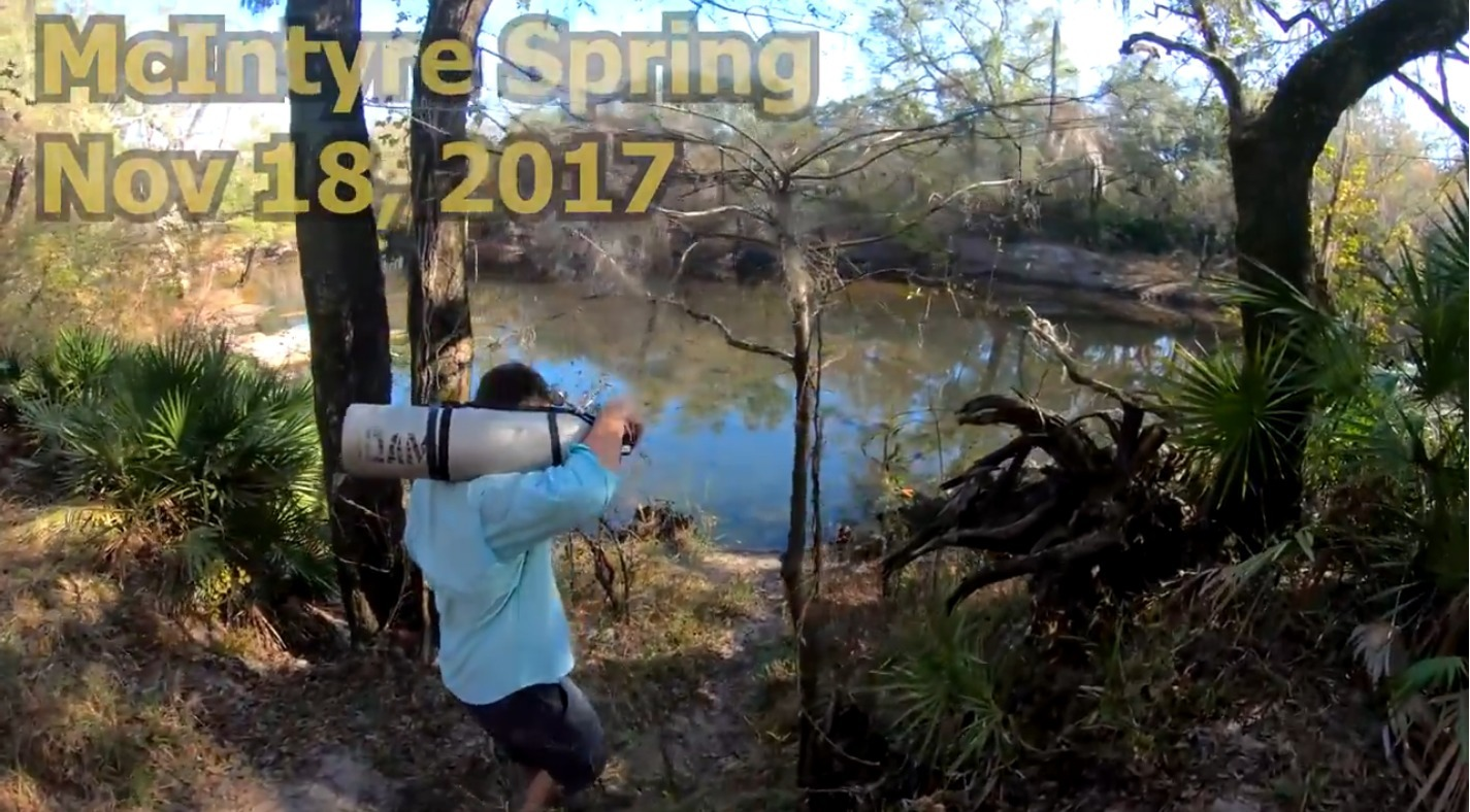 1425x788 Down to the spring, Diving, in McIntyre Spring, by Guy Bryant, for WWALS.net, 18 November 2017