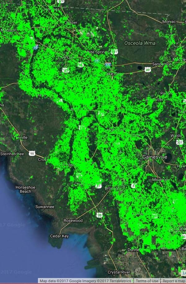 Basin in Florida, Maps