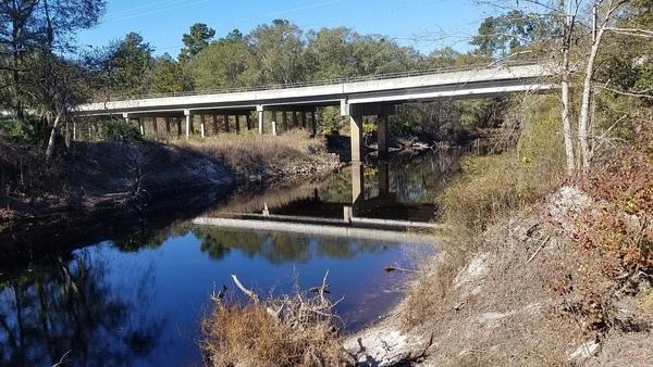 Hagan Bridge, River bank