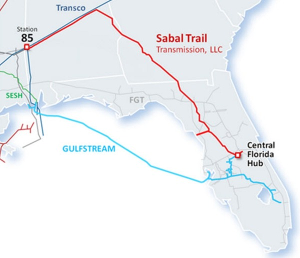 Sabal Trail, Maps