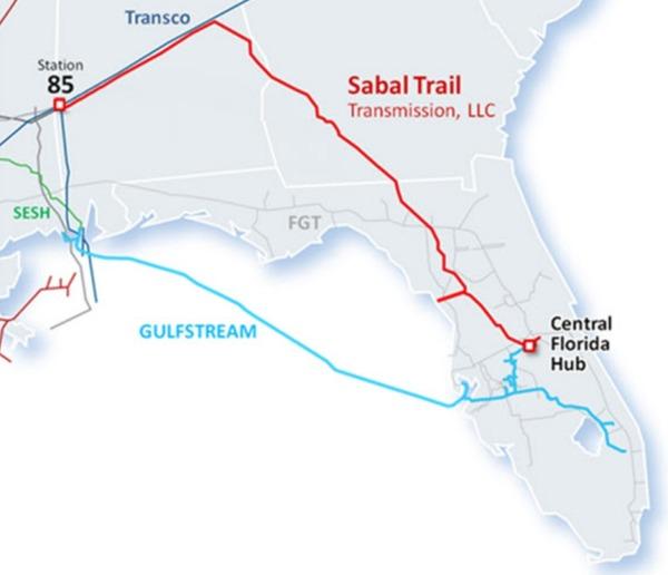 Sabal Trail, Maps