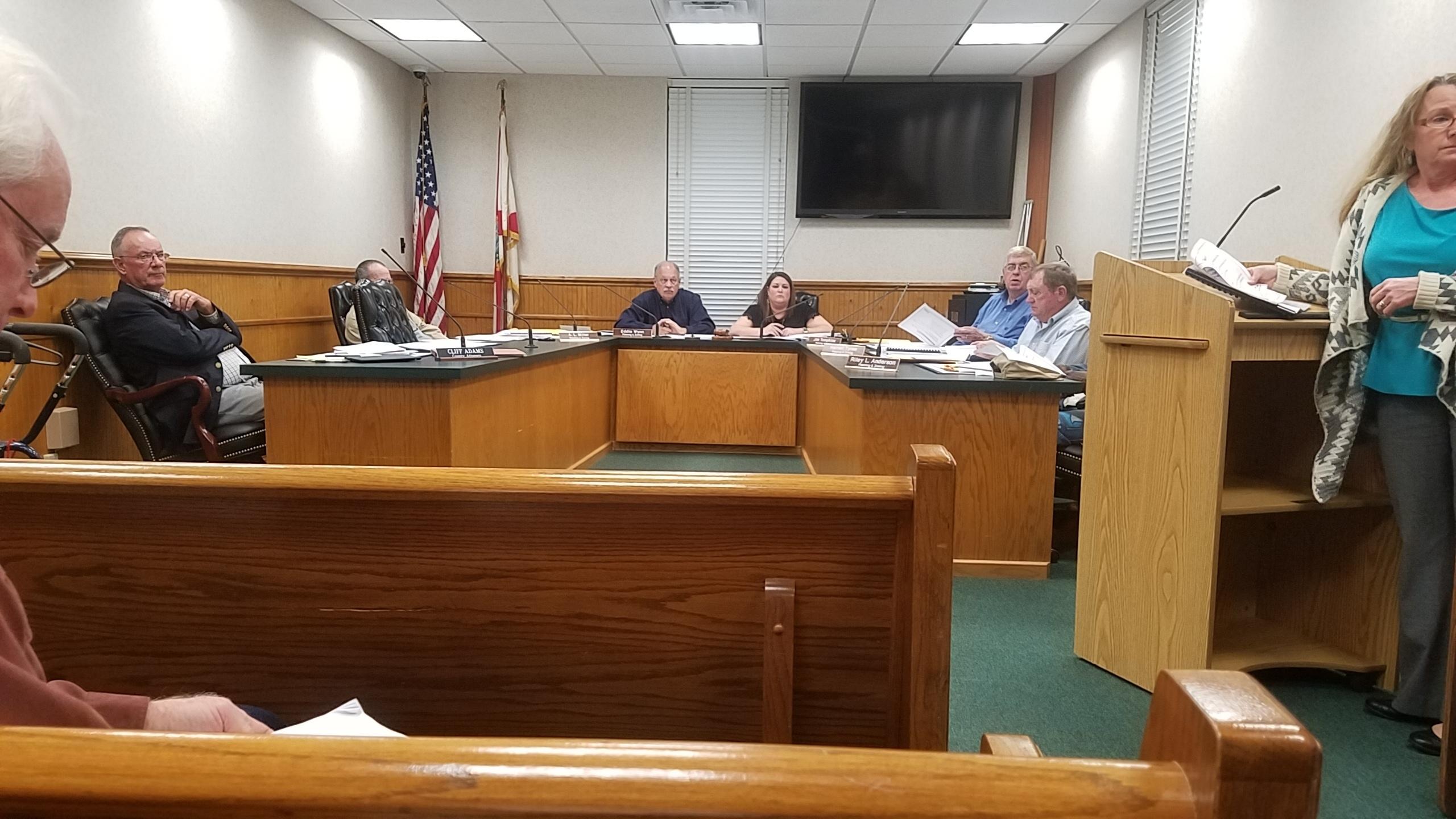2560x1440 Deanna Mericle questions PCS, Public Comment, in PCS Phosphate mine permit Public Hearings, Jasper, FL, by John S. Quarterman, for WWALS.net, 23 January 2018
