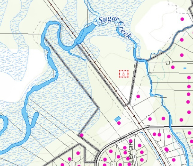 645x554 VALOR GIS, 30.85937, -83.32235, Maps, in Gornto Road, Valdosta, access to Withlacoochee River, by John S. Quarterman, for WWALS.net, 24 January 2018