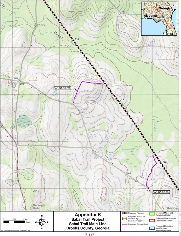 B-117, Sabal Trail Project Brooks County