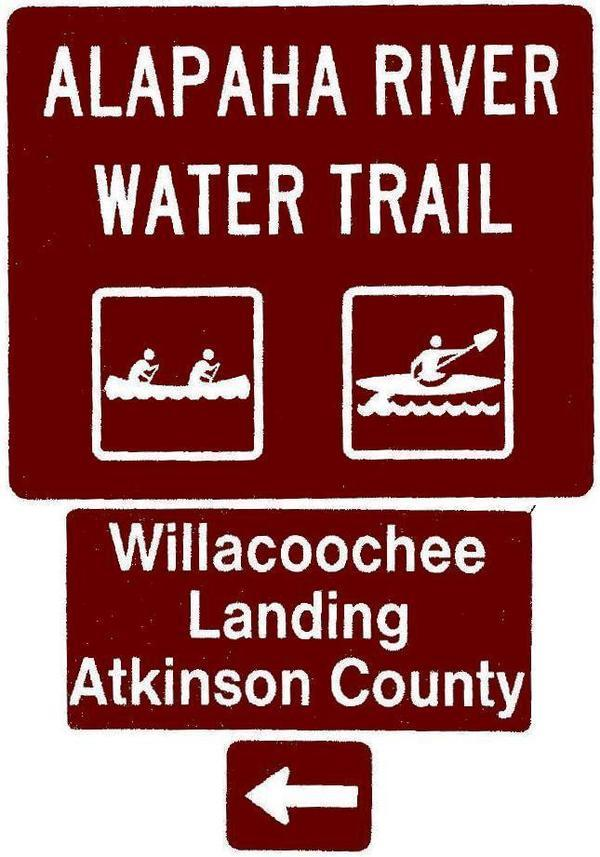600x857 Willacoochee Landing, Atkinson County, Left, Posts, in Road signs for Alapaha River Water Trail, by John S. Quarterman, for WWALS.net, 26 February 2018