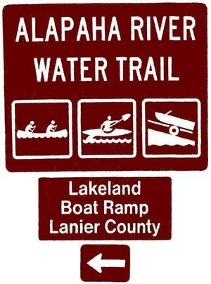 Lakeland Boat Ramp, Lanier County, Left, Posts