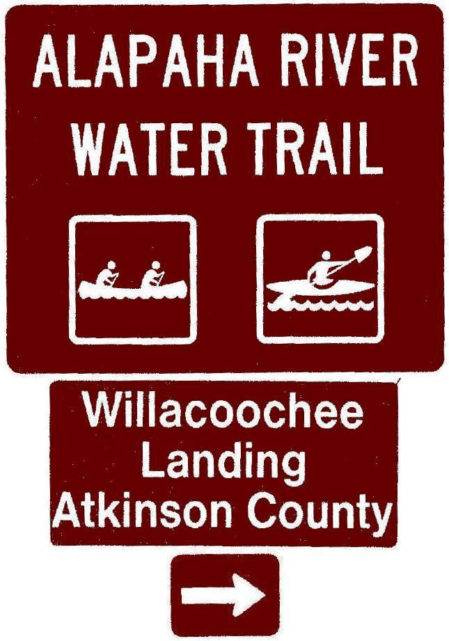 645x921 Willacoochee Landing, Atkinson County, Right, Posts, in Road signs for Alapaha River Water Trail, by John S. Quarterman, for WWALS.net, 26 February 2018