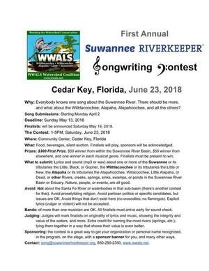 Deadline May 13, Contest June 23, 2018, Flyer